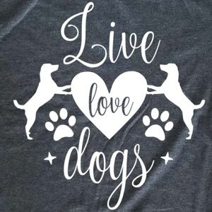Live Love Dogs - heart paws - fur mom / dad